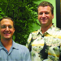 Duncan Bamsey, Office Manager, left, and Dr. Joe Breuwet.