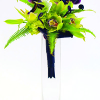 Contemporary use of tropicals makes this bouquet pop. photo courtesy of Green Point Nurseries