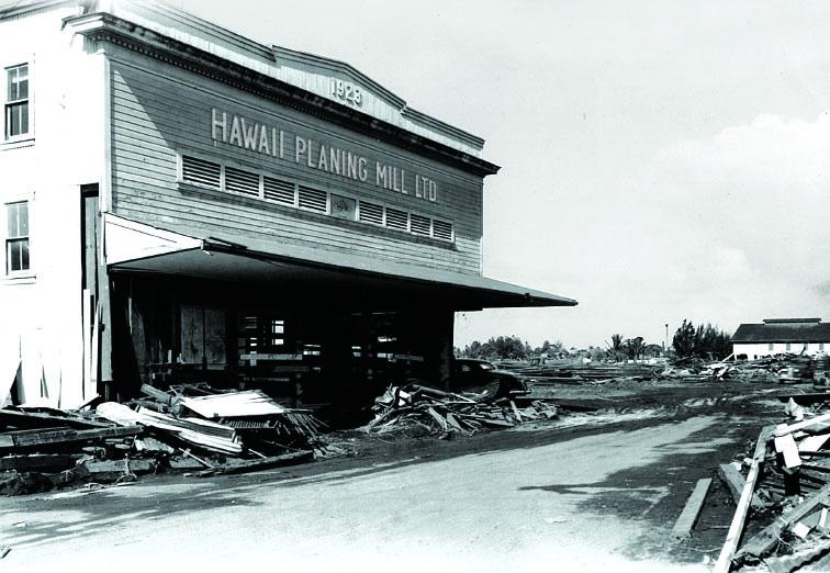 HPM on Hilo Bayfront destroyed by 1946 Tsunami