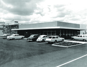 HPM 3rd Hilo Store circa 1961 after rebuilding twice due to Tsunami devestation in 1946 and 1960