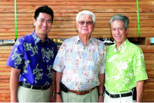 Three generations of Fujimotos: Jason, Bobby, and Mike