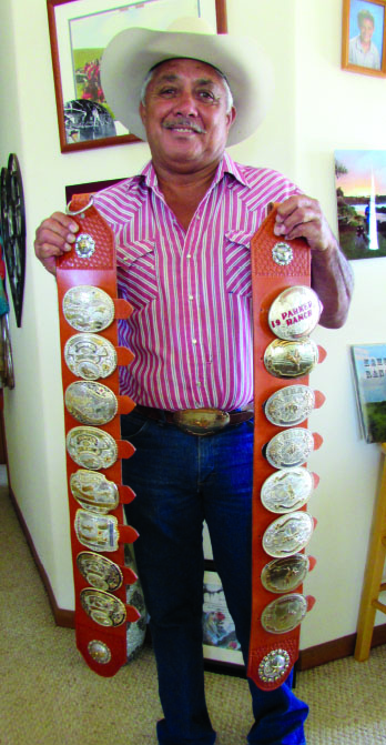 Godfrey with some of his belt buckles. photo by of Ma'ata Tukuafu