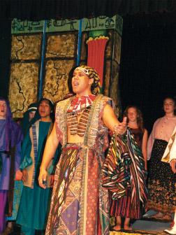 Pedro Ka'awaloa in Joseph & The Amazine Technicolor Dreamcoat. photo by Janet Coney, courtesy KDEN