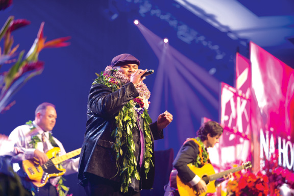 Kalani performed at the 2017 Nä Hökü Hanohano Awards in May, where he won the award for Contemporary Album of the Year. photo courtesy Thomas Tsutsumoto