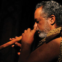Manu Josiah plays traditional Hawaiian flute. photo courtesy Daniel Nathaniel