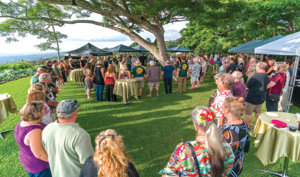 The public is invited to the final night gala at Holualoa Inn for refreshments and fundraiser auction. photo courtesy of Hawai'i Artist Collaboration