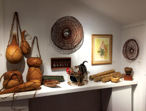 Traditional implements displayed at the Worldwide Voyage exhibit. photo courtesy of Karen Eoff