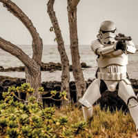 Stormtrooper at the Mauna Lani Bay Hotel & Bungalows. photo courtesy of Peter Chiapperino