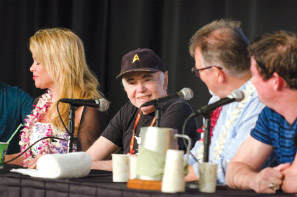 Star Trek actors at HawaiiCon 2016–Chase Masterson, Walter Koenig, and Jonathan Frakes. photo courtesy of Peter Chiapperino