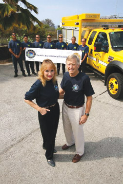 Laura and Frank Sayre at Rescue 7 Kailua-Kona Station. photo courtesy of Laura and Frank Sayre
