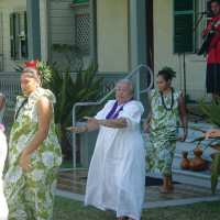 Aunty Jo dancing at the 2011 Day at Hulihe'e Palace Fundraiser. photo by Renée Robinson