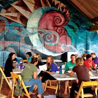 Managing With Aloha workshop at Mokuleia, O'ahu.  photo courtesy of Rosa Say