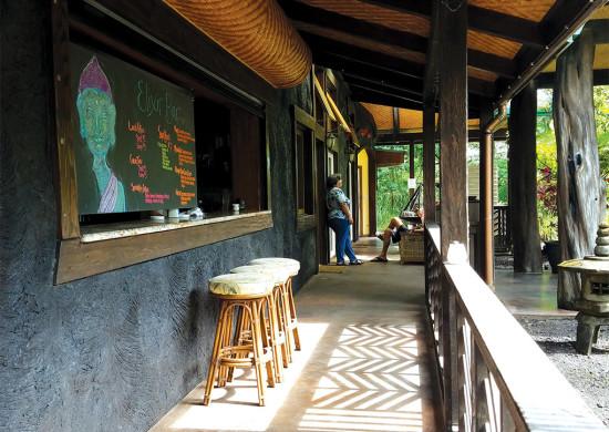 The Elixer Bar at Hawaiian Sanctuary. photo courtesy of Hawaiian Sanctuary