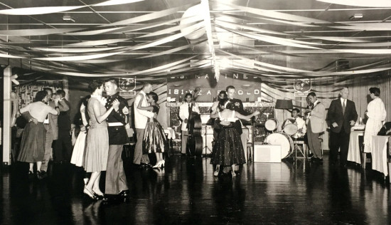 Dancing in 1963 in the Koa Room for the US Marines 181st birthday. photo courtesy of Kïlauea Military Camp