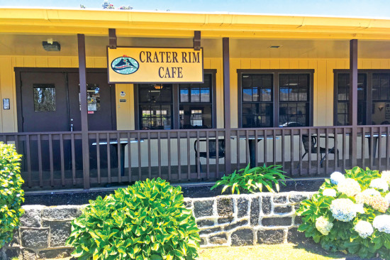 Crater Rim Cafe and the adjacent Lava Lounge are open to the general public. photo by Karen Valentine