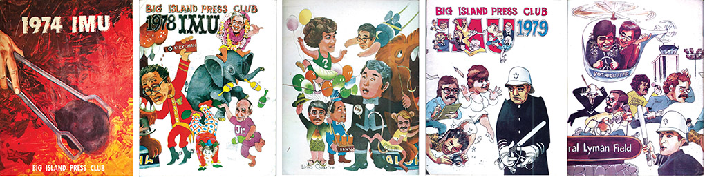Program covers from Imu, the BIPC annual fundraising roast performance.