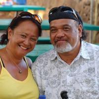 Bruddah Waltah with his wife, Thailiana.