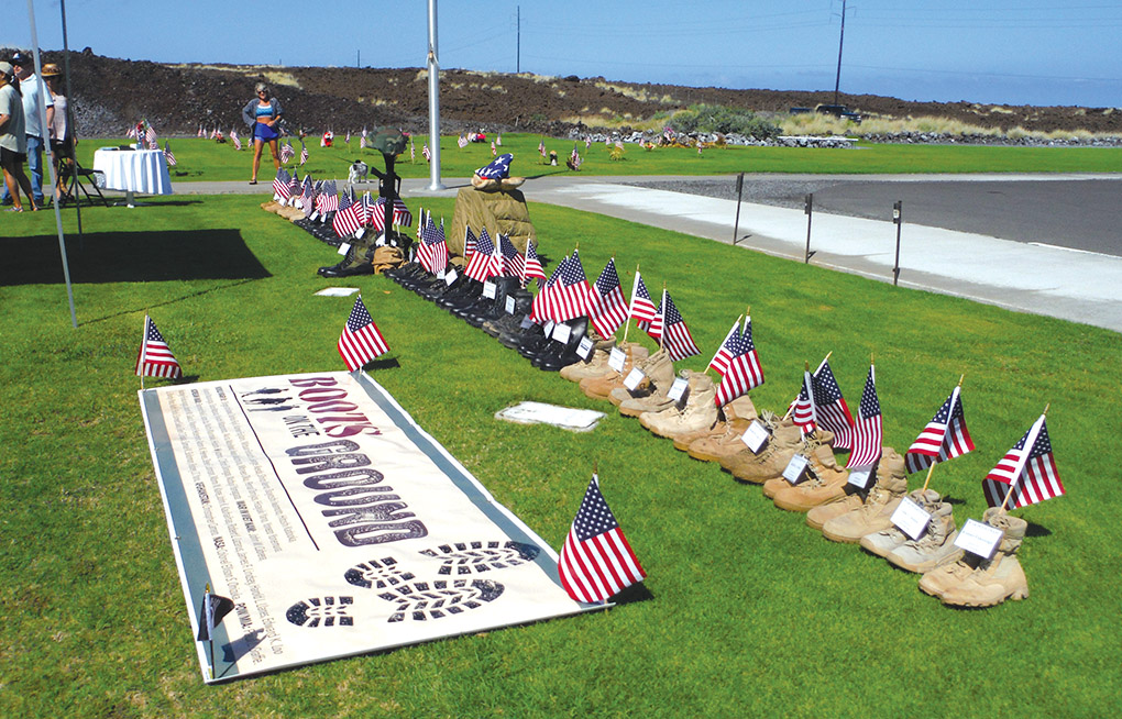 Boots On The Ground was a theme for the family's tribute to Vietnam Veterans from West Hawai'i.