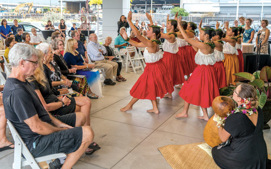 10th Annual Art Auction opening blessing and performance at BMW of Hawaii. photo courtesy of DMAC