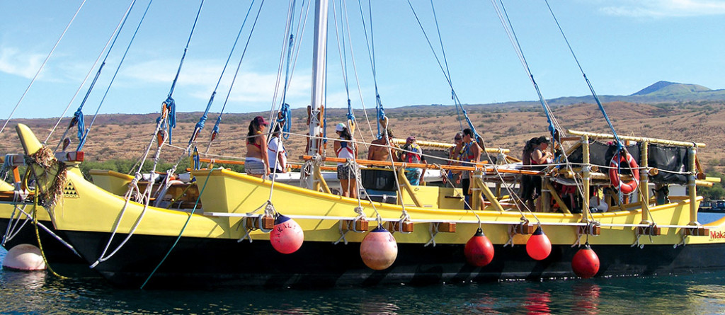 Makaliʽi almost ready to depart Kawaihae for a training cruise. photo by Jan Wizinowich