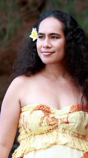 Kainani at the beach on Kaua'i. photo courtesy Midweek
