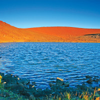 Lake Waiau, named after one of the snow goddesses of Maunakea, is a sacred site. photo by Robert Frutos