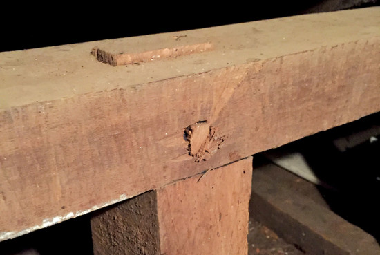 Few nails were used in building the home with mortise and tenon joinery used to connect koa beams together. photo by Denise Laitinen