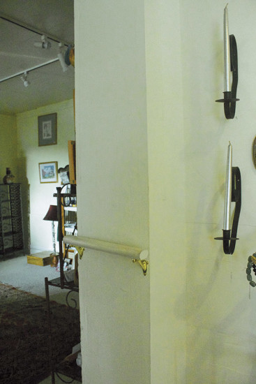 One of the original walls of the Spencer house. photo by Denise Laitinen