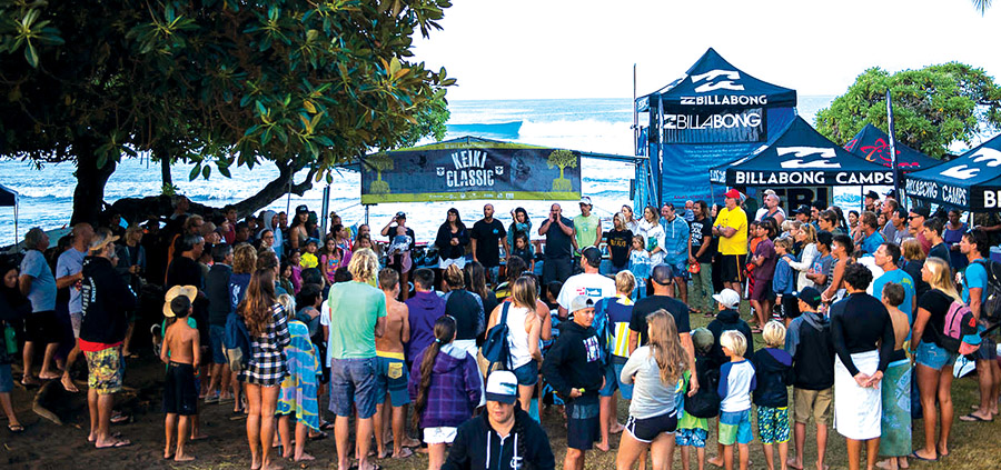 2017 Keiki Classic. On-hand to sign autographs for the kids were some serious surf celebs including Kelly Slater, Zeke Lau, Torrey Meister, Matt Meola, and more.