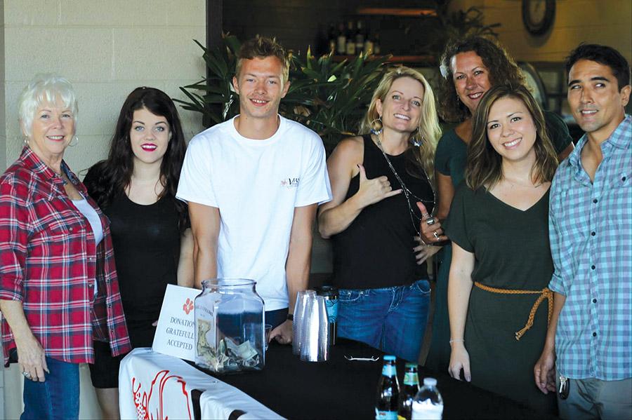 Volunteering at a 2015 VASH fundraiser are from left: Cherith Cohn, Kat Sullivan, Nicholas Lachey, Karen Rose, Lisa Pegg, Danielle Yamamoto, and Brit Morifuji. photo courtesy of VASH