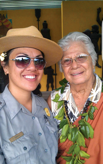 Kawai Domingo and her grandma, Katherine Domingo. photo courtesy of Kawai Domingo